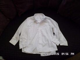 2 x nearly new boys school shirts size 8-9 yrs
