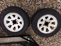 2 mini wheels 155/70 r12