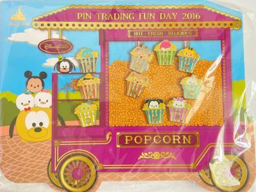 HKDL Disney 2016 fun day popcorn 10 Pin set(Marie Alice Cheshire Cat Oswald Lot)