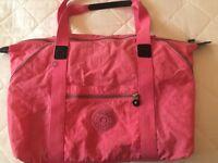 Kipling ladies pink holdall