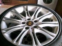 BMW SET 4 MV2 18 ALLOYS,,all new tyers,