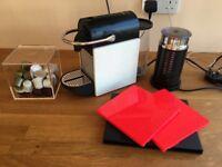 Nespresso Pixie Clips Coffee Machine with Aeroccinno by Magimix - White & Neon Coral