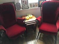 Ercol High Back Evergreen Fireside Armchairs