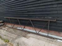 large 6m metal industrial pallet racking end long large dexion hilo style