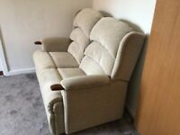 Beige HSL two seater sofa-excellent condition