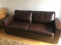 Real Leather Sofabed