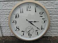 outdoor clock.