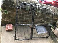 Bulk head cage for transit connect