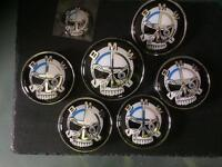 BMW SKULL BADGES E46 E90 SALOON COUPE WHEELS BONNET BOOT