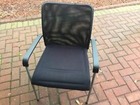 Set of 8 Black Chairs