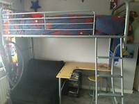 Jay bed with futon desk and stool