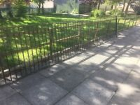 40ft Joblot Of Galvanised Barley Twist Railings / Metal Fencing Can Deliver