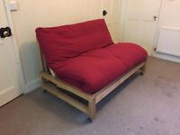 The Futon Company Linear Birch Two Seater Sofa Bed