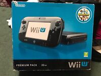 NINTENDO WII U 32GB BLACK CONSOLE EXCELLENT CONDITION BOXED