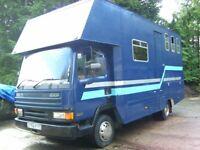 Horsebox Leyland Daf 7.5 ton