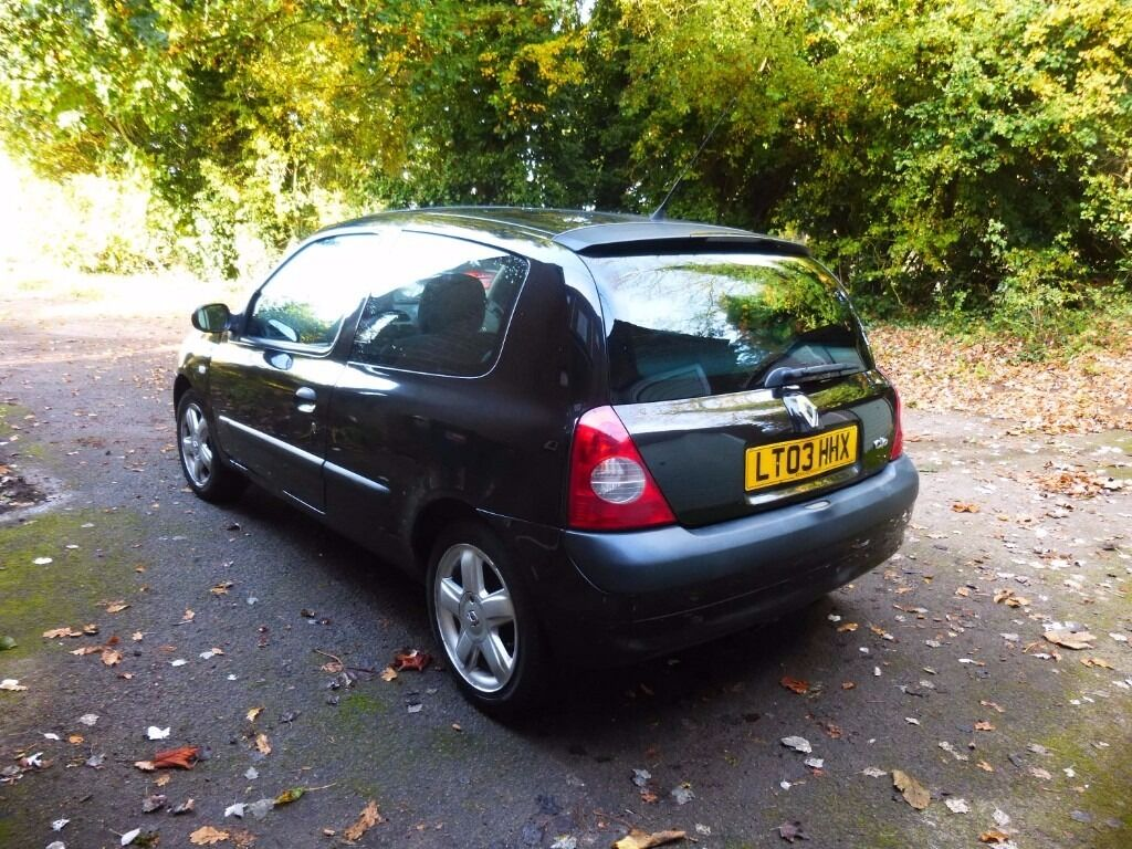 Renault Clio 16V Dynamique 64,000 miles 2003 MOT to Aug 2017