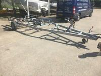 Bunked boat trailer to suit 17-20 ft boat.