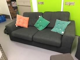 Sofa and Armchair with Stool & Cushions