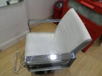 hairdressing chairs WARM WHITE HAIR STYLING CHAIR HAIRDRESSERS