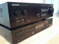 PIONEER AMPLIFIER AND CD PLAYER