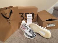 Yeezys 350 Boost v2 Zebra (Size 9)