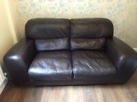 Two seater leather sofac
