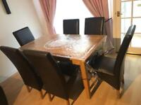Dining table+ 6 chairs