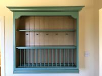 Kitchen Wall Plate Rack and shelf unit. Magnet Green Excellent condition £40.00 1000W,1000H,300D