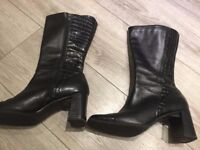 Ladies black boots (size 7) used but very good condition