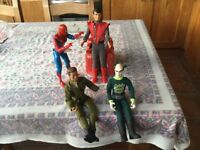 Action man spider man and two others
