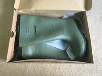 Unisex UK Size 6 Olive Green Campri Wellies