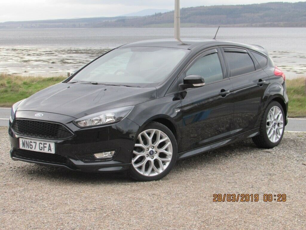 2017 67 Ford Focus 1 5 Tdci St Line 125 In Black 17200 Miles Inverness Highland Gumtree