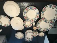 Royal Cauldon selection of plates and saucers and cupd