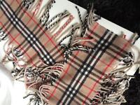 Burberry classic beige and pink scarves
