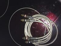 Pair of Linn hi-fi interconnects for sale.
