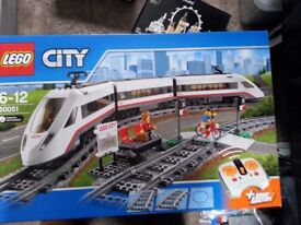 Lego City passenger train and Lego city train station. New in sealed box. Separately prices