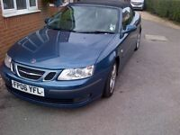 Saab 9-3 convertible 1.8 vector auto. 2006 with grey & black leather.