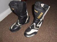 mens size 9 motor bike boots