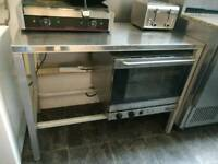 Steel catering / kitchen bench