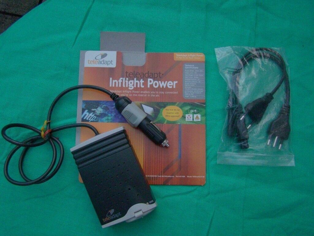 Teleadapt Inflight Power Inverter (new/unused) for caravanning, boating, holidays (rrp£60)