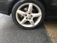 17 inch staggerd amg wheels