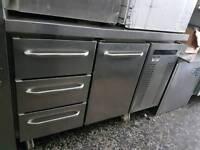 Gram 1 door 3 drawer bench fridge
