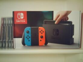 Nintendo Switch + 5 Games (look description)