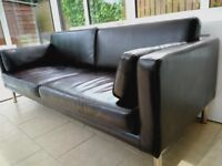 Leather sofa- excellent condition- Brown