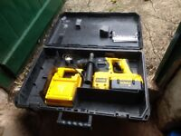 dewalt 36 volt drill with case charger and one battery used in full working order