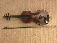 ¾ size violin