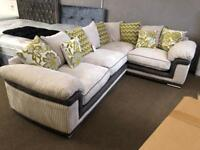New/ex-display** Stunning corner sofa BARGAIN