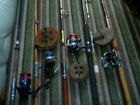 BOAT RODS AND REELS IN GOOD ORDER