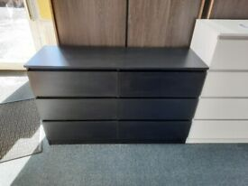 NEW 6 Drawer Chest. Available in Black, Grey, White or Oak Effect