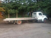 1990 flat bed tow truck